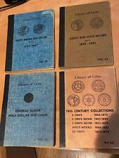 4 Library Of Coins Albums Vol. 20 22 25 35 Century Collections Type Half Dollars