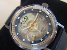 COLLECTIBLE 1970'S SWISS BULER ASTROLON MECHANICAL PLASTIC MOVEMENT        *6315