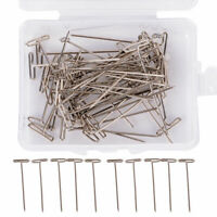 "50X Metal 38mm150"" T Pins For Modelling Macrame Wigs Sewing,DIY~Accessorie X8Z1"