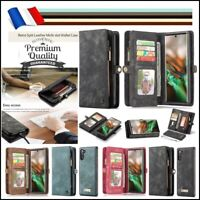Etui housse portefeuille coque Split Leather Case Samsung Galaxy Note 10, 10+