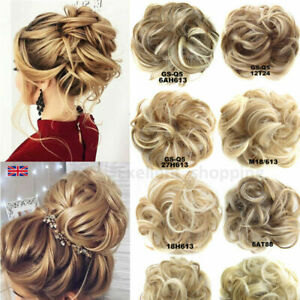 AU Curly Messy Bun Hair Piece Scrunchie Updo Thick Hair Extensions Real As Human