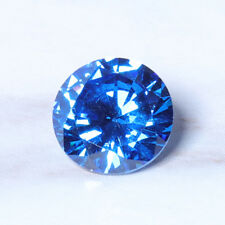 8mm 3.25ct Sea Blue Sapphire Round Faceted Cut Shape AAAAA VVS Loose Gemstone