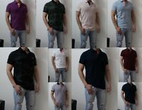 NWT Hollister Men Guy Soft Stretch Icon Pique Casual Polo Slim Fit Abercrombie