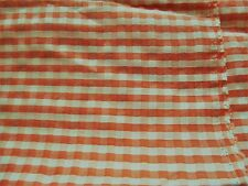"Dark peach & white woven polyester check fabric-1/4"" check-1 yd 25""x 58"""