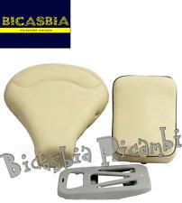 8256 - SELLA + PIASTRA E CUSCINO BEIGE PANNA VESPA 125 SUPER SPRINT GT GTR TS