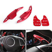 Steering Wheel Shift Paddle Shifter Extension For Chevrolet Camaro 2016-2018 Red