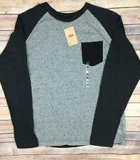 NWT Levis Mens Henley Long Sleeve Shirt Size XXL 2XL