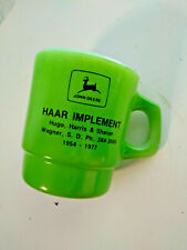 1954 - 1977 Jd Haar Implement Wagner Sd Fire King Mug Nice Condition John Deere