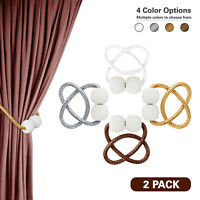 2 PC Magnetic Curtain Buckle Holder Tieback Clips Home Window Accessories Decor