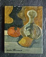 """André MINAUX (1923-1986): huile sur toile """"Nature morte"""", 27x22cm, signée"""