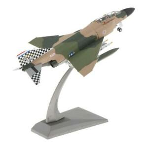1:100 USA F-4 Phantom II Fighter Aircraft Alloy Model Airplane & Stand Home