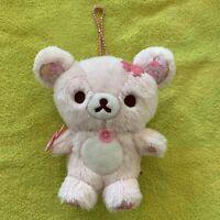 San-X Korilakkuma Pink Sakura Cherry Blossom Plush Bear Rilakkuma Key Chain