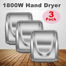 3Pcs New Commercial and Household Electronic Auto 1800W Hand Dryer High Speed