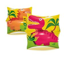 Inflatable Arm Bands Pool Water Wings Dinosaur Childrens Swimming Training Pack