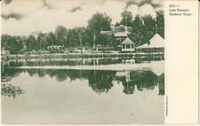 vintage postcard Lake Kenosia Danbury Connecticut unused Undivided Back B&W