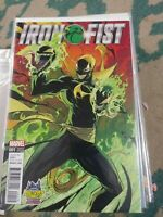IRON FIST  # 1 VENOMIZED  VARIANT 2017 MARVEL  MIDTOWN COMICS EXCLUSIVE
