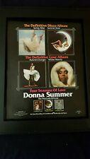 Donna Summer Four Seasons Of Love Rare Original Promo Poster Ad Framed!
