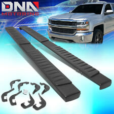 "FOR 2007-2018 GMC SIERRA CHEVY SILVERADO CREW CAB 6""RUNNING BOARD STEP BAR BLACK"