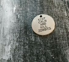 Quote Charms Word Pendant Connectors Bracelet Links KEEP CALM AND KILL ZOMBIES 2