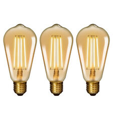 Lampade Lampadine a Filamento a LED Edison E27 Vintage 6W ST64 Stile Retro 2400K