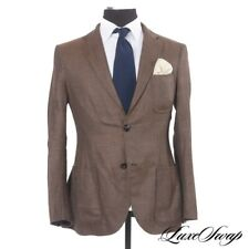 Giorgio Armani Black Label Tokyo Fit Unlined Unstructured 3 Patch Brown Jacket