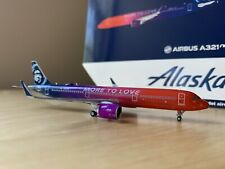 """Gemini Jets 1:400 Scale Alaska Airlines Airbus A321neo""""More to Love"""" GJASA1776"""