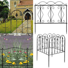Wrought Iron Metal Arched Fence Garden Patio Wire Fencing Border Edging Barrier