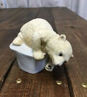 Vintage Porcelain 1982 Brrrrr! By Eva Dalberg Polar Bear On Iceberg Figurine