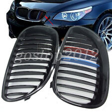 Gloss Black Car Front Bumper Grilles Grills ///M Color For BMW 5 Series E60 E61