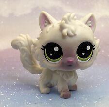 Littlest Pet Shop Authentic # 2-81 Cleo Curlycat White Gray Angora Cat