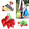 Womens Eco-Friendly Storage Handbag Strawberry Foldable Reusable Shopping Bags