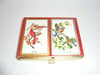 Estate 2 decks original box Congress Designer series Birds ~Spain Vintage