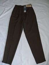 Genuine 1980's ladies pant size 8 - pure wool gaberdine, coffee colour