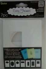 Darice Easy Frames 7 Embossing Folder Diffusers Ezframe Stencil Template Designs