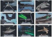 2016 Topps Star Wars Evolution Ships and Vehicles Card You Pick Finish Your Set