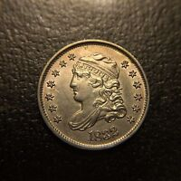 1832 Capped Bust Half Dime UNC BU MS H10c Five Cent Silver Draped Type