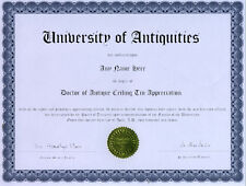 Doctor Antique Ceiling Tin Appreciation Novelty Diploma