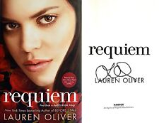 Lauren Oliver~SIGNED~Requiem~1st/1st HC+Photos!! ~ Final Book - Delirium Trilogy