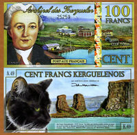 Kerguelen Island, 100 Francs, 2012, POLYMER UNC > New Holographic S/S