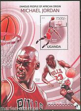 UGANDA FAMOUS PEOPLE OF AFRICAN ORIGIN BASKETBALL PLAYERS  S/S MINT