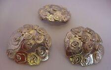 Scottish Ola Gorie Silver Rose Brooch