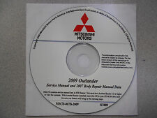 2009 2007 MITSUBISHI OUTLANDER Service Repair Manual CD FACTORY BARGAIN 09 07