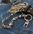 Short Skull Connect Classic Biker Trucker Keychain Key Jean Wallet Chain CS103