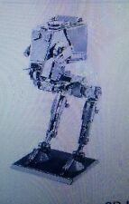 * 3D METAL * Star Wars Model Construction Kit AT-ST All Terrain Scout transport.