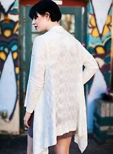 Anthropologie FRNCH Open Cardi Sweater White Medium/Large NWT $75