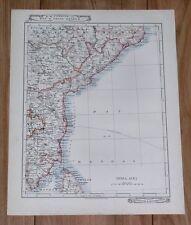 1907 ORIGINAL ANTIQUE MAP OF INDIA /  ANDRA PRADESH MADRAS / GOA MUMBAI BOMBAY