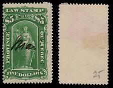 Canada Quebec Law Stamp 1893 5 Dollars Manuscript Cancel QL51 #198P