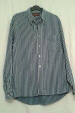 Men's Moto Blue & white stripe long Sleeve Shirt Size medium