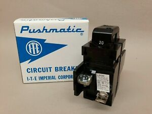 NEW 15 20 30 40 50 60 100 Amp PUSHMATIC BREAKERS ITE 1 & 2 POLE *ALL SIZES*