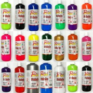 New 500ml Fabric Paint Fabric Textile Ink Print Art Craft 20 Colours Made In AUS